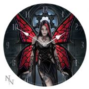 Aracnafaria - Gothic Spider Fairy Art Wall Clock By Anne Stokes